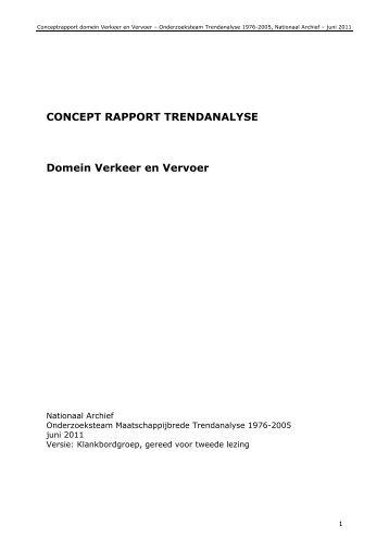 Deelrapport trendanalyse domein Verkeer en ... - Nationaal Archief