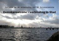 Eemskanaalzone - verbinding in Stad - Woonschepenhaven ...