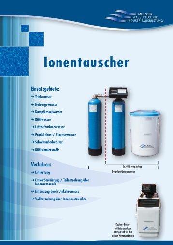 Ionentauscher - Metzger Wassertechnik