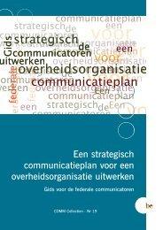 Een strategisch communicatieplan voor een ... - Fedweb