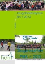 Jeugdbeleidsplan 2011-2013 - Jeugdraad Ham