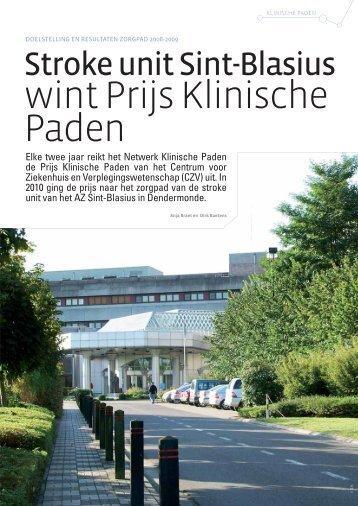 Stroke unit Sint-Blasius wint Prijs Klinische Paden
