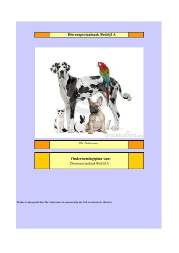 ondernemingsplan dierenwinkel Mkbbedrijvensupport.nl Magazines ondernemingsplan dierenwinkel