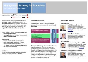 Management Training for Executives ... - GCN Consulting