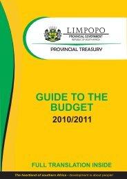 Budget Guide 2010/2011 - Limpopo Treasury