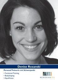 Denise Rozanski - MeridianSpa