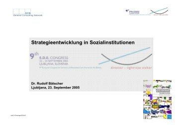 Strategieentwicklung in Sozialinstitutionen