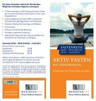 aktiv fasten - MeridianSpa