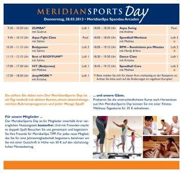 Donnerstag, 28.03.2013 • MeridianSpa Spandau Arcaden