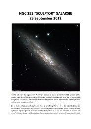 "NGC 253 ""SCULPTOR"" GALAKSIE 23 September 2012"