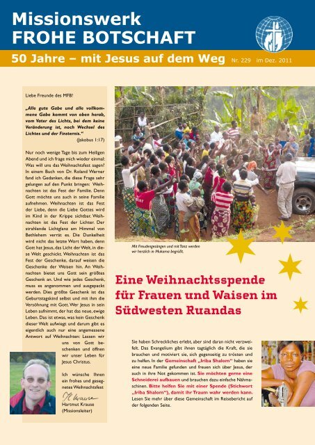 Rundbrief 229 - Missionswerk FROHE BOTSCHAFT eV