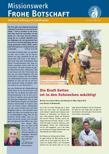 Frohe Botschaft - Missionswerk FROHE BOTSCHAFT eV