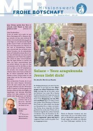 Rundbrief 223, Erschienen im September - Missionswerk FROHE ...