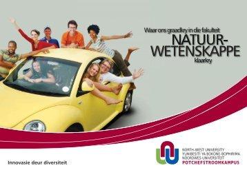 WETENSKAPPE - Potchefstroom University