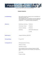 Firmenprofil - Hausverwaltung MF GmbH