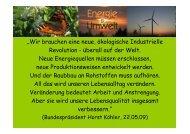 """""""Wir brauchen eine neue, ökologische Industrielle Revolution ..."""