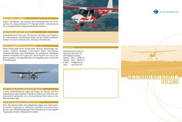 Ultraleichtfliegen - DAeC