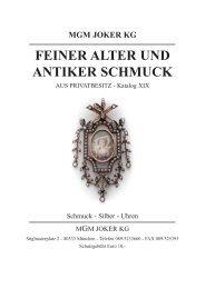 FEINER ALTER UND ANTIKER SCHMUCK - MGM Muenzgalerie