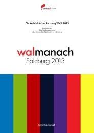 neuwal.com walmanach Salzburg 2013 - Die Wahlhilfe zur Salzburg Wahl 2013