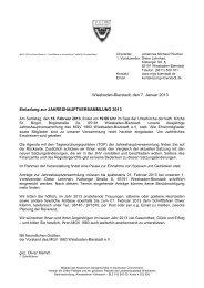 Wiesbaden-Bierstadt, den 7. Januar 2013 Einladung zur ...