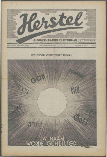 Herstel (1940) nr. 50 - Vakbeweging in de oorlog