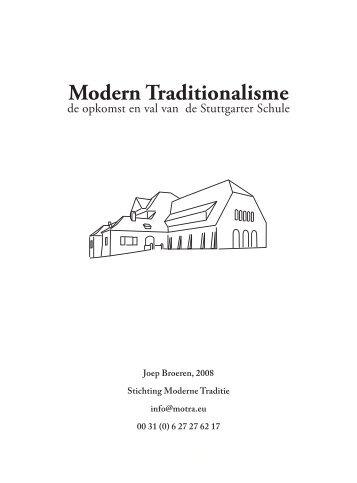 Modern Traditionalisme - Stichting Moderne traditie