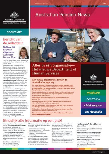 Australian Pension News - Dutch - Department of Human Services