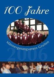 Festschrift zum 100jährigen Jubiläum - hier klicken (pdf)
