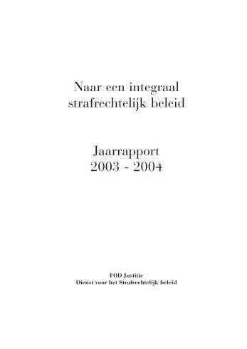 2003-2004 - Dienst voor het Strafrechtelijk beleid