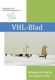 VHL Blad - December 2010 - Belangenvereniging VHL