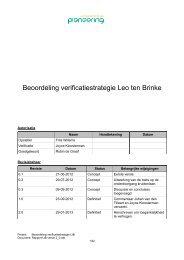 Rapport Beoordeling verificatiestrategie Leo ten Brinke