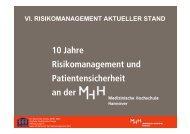10 Jahre Risikomanagement und Patientensicherheit an der