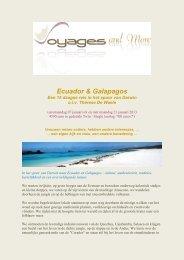 Ecuador & Galapagos - Voyages and More
