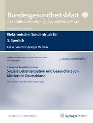 Soziale Lebenssituation und Gesundheit von Müttern in Deutschland