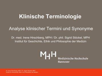 Begriffsbildung - Medizinische Hochschule Hannover