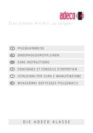 Wskazówki dotyczące pielęgnacji (link) - Adeco