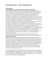 Forschungsbericht 2010 - Institut für Pathologie MHH