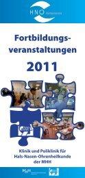 Fortbildungs- veranstaltungen - Medizinische Hochschule Hannover