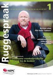 In deze Ruggespraak - HZPC Holland