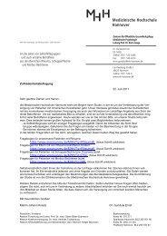 Patienteninformation - Medizinische Hochschule Hannover