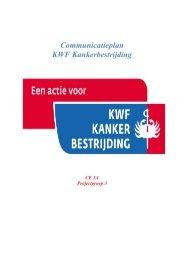 Communicatieplan KWF Kankerbestrijding - Deze website wordt op ...