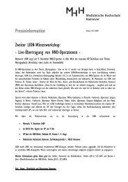Presseinformation Zweiter LION-Winterworkshop - Medizinische ...