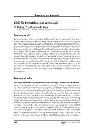 Klinik für Dermatologie und Venerologie - Medizinische Hochschule ...