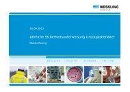 Unterweisung Druckgasbehälter - Medizinische Hochschule Hannover