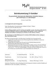 Betriebsanweisung S1-Genlabor - Medizinische Hochschule ...