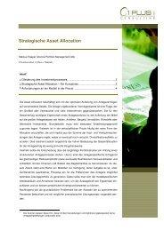 Strategische Asset Allocation - 1 PLUS i GmbH