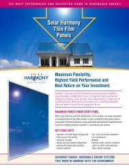 Solar Harmony Thin Film Panels - GeoSmart Energy