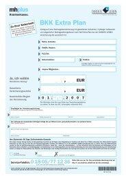 BKK Extra Plan - mhplus Krankenkasse