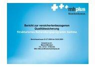 Strukturiertes Behandlungsprogramm Asthma - mhplus Krankenkasse