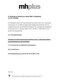 8. Nachtrag zur Satzung der mhplus BKK, Ludwigsburg vom 07.12 ...
